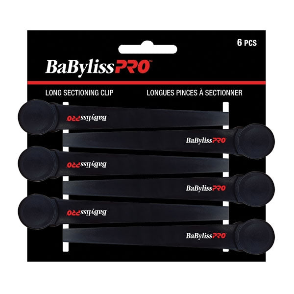 BaByliss Pro Long Sectioning Clips BESPRO10UCC, 6 Clips