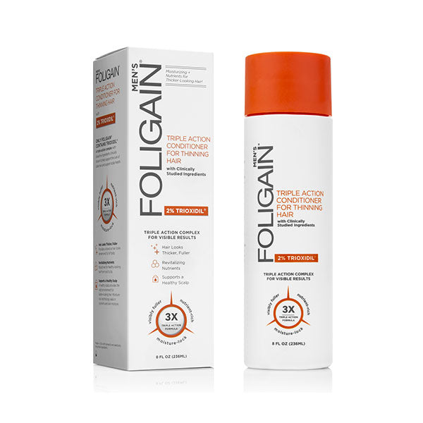 FOLIGAIN Triple Action Conditioner for Thinning Hair for Men with 2% Trioxidil 236ml
