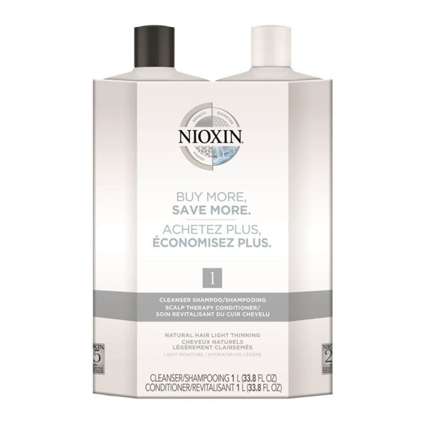 Nioxin Cleanser & Scalp Therapy Litre Duo System 1