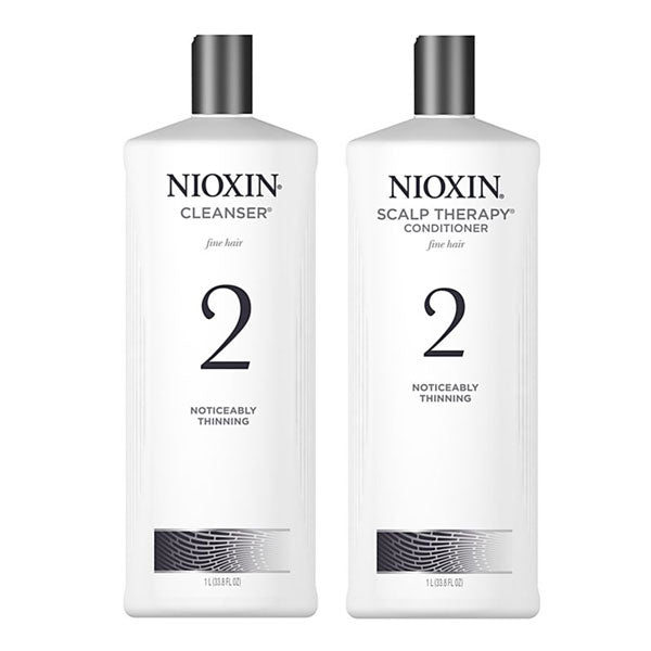 Nioxin Cleanser & Scalp Therapy Litre Duo System 2