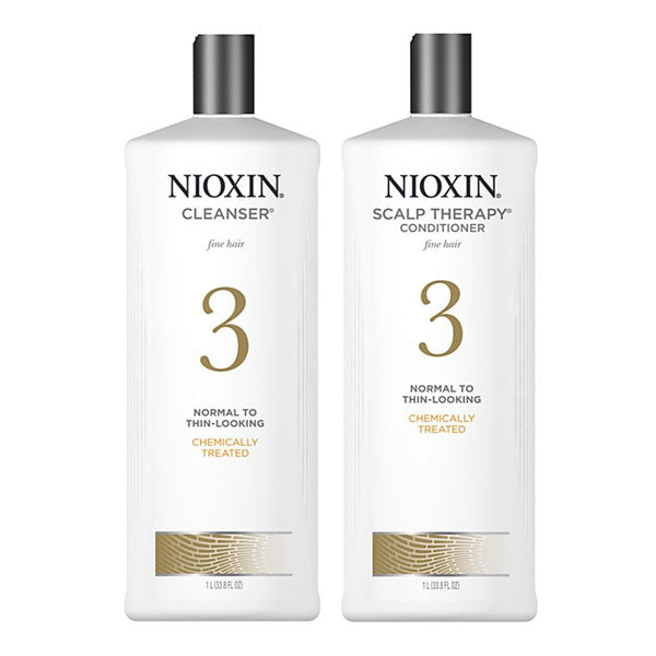 Nioxin Cleanser & Scalp Therapy Litre Duo System 3