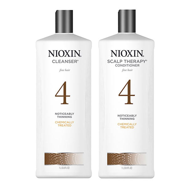 Nioxin Cleanser & Scalp Therapy Litre Duo System 4