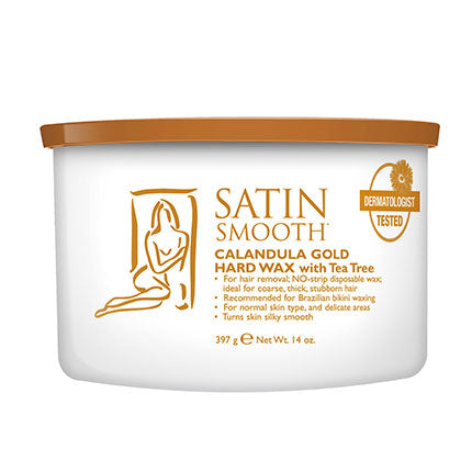 Satin Smooth Calendula Gold HARD Wax 14oz