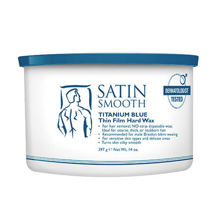 Satin Smooth Titanium Blue Thin Film Hard Wax 14oz