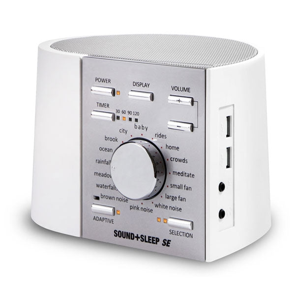 Sound+Sleep SE White/Silver Adaptive Sound Sleep Therapy System