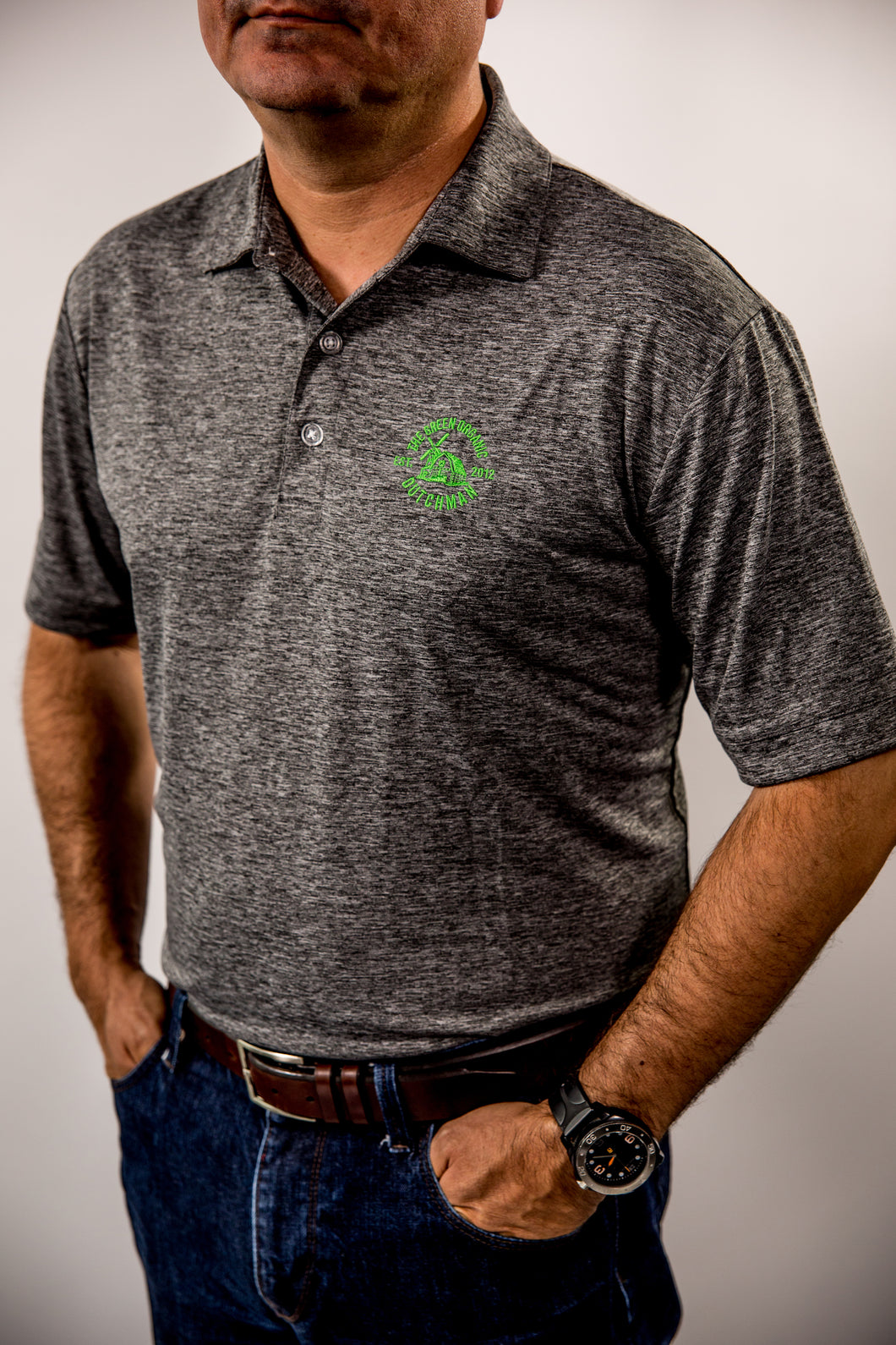 TGOD Men's Callaway Heathered Performance Polo