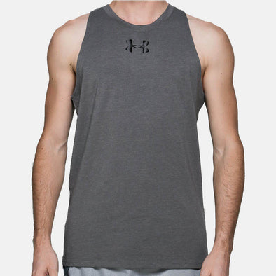 Ua Baseline Cotton Tank 1293825-090 Tank-Grey