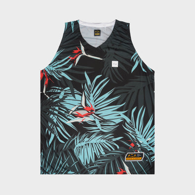 AZA OUTLIER FLORAL JERSEY - BLACK