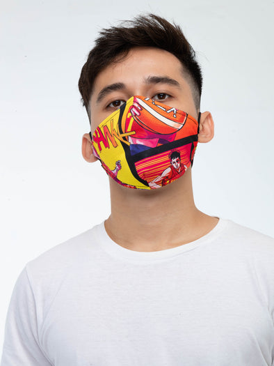 AZA Manga Strike Face Mask - Red