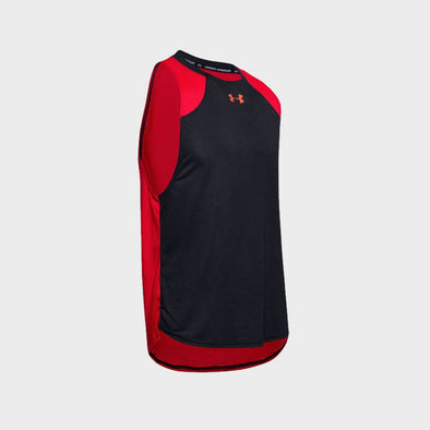 Under Armour Baseline Performance Tank Top-Red Black-1326706-004 Tank