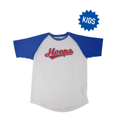 Hoops Raglan Kids T-Shirt - White