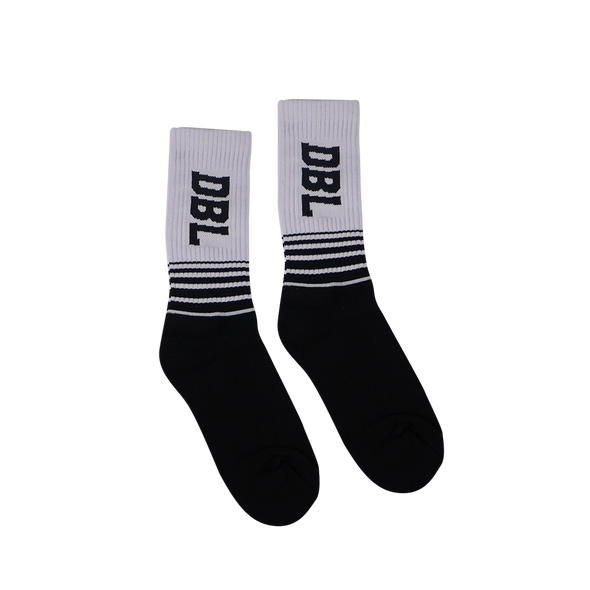 DBL Casual Socks - White / Black