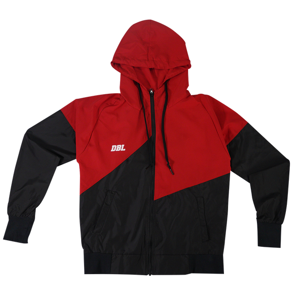 DBL The Lightning Windbreaker Jacket - Red / Black