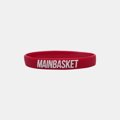 WRISTBAND BASKET INDONESIA SELAMANYA - MAROON/WHITE