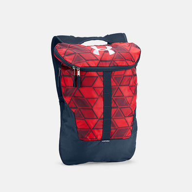Under Armour Expandable Sackpack  - Navy/Red