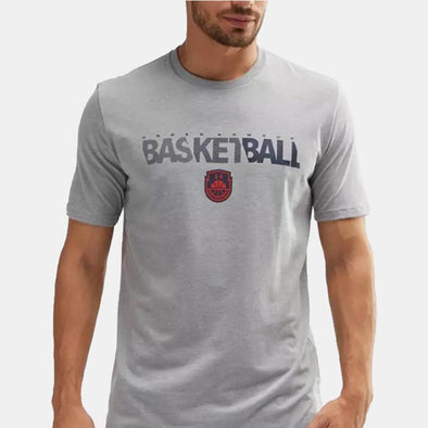 Wordmark Basketball Ss 1305712-035 T-Shirt-Grey