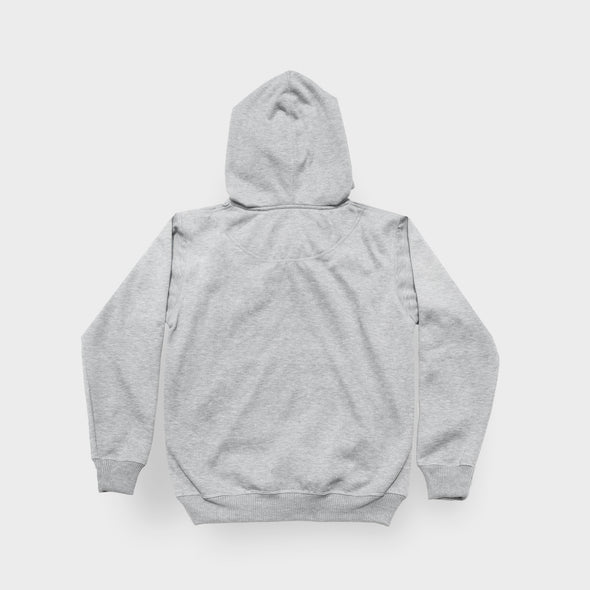 DGOODS Basic Stamp Fleece Hoodie - Grey