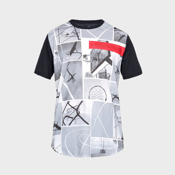 Under Armour Ss Tee Ua Snapshot Ss Tee 1326715-100 T-Shirt-White