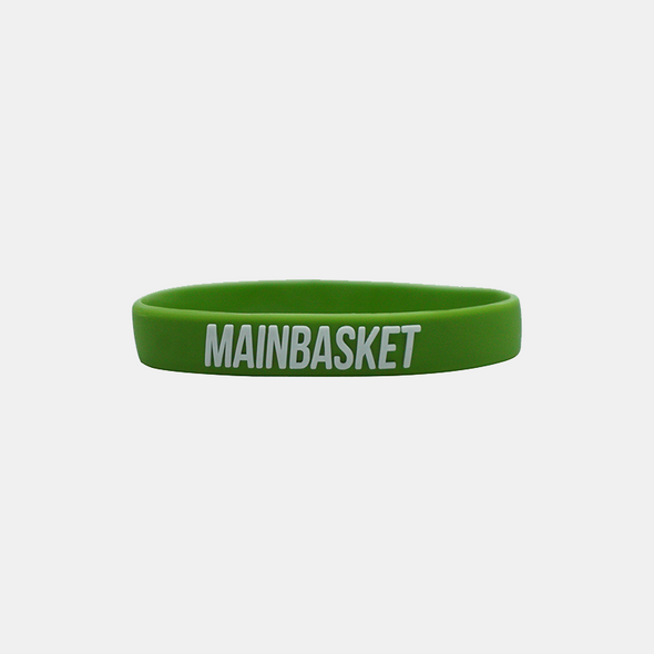WRISTBAND BASKET INDONESIA SELAMANYA - LIME/WHITE