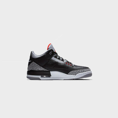Air Jordan 3 Black Cement , Grade School 854261-001-Black