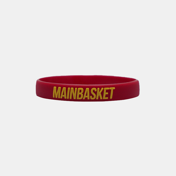 WRISTBAND BASKET INDONESIA SELAMANYA - MAROON/YELLOW