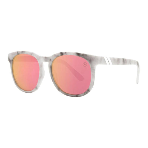 Blenders // Alumni Queen-Sunglasses-Blenders-White Marble/Rose Pink Lenses-Viso Sun Shop