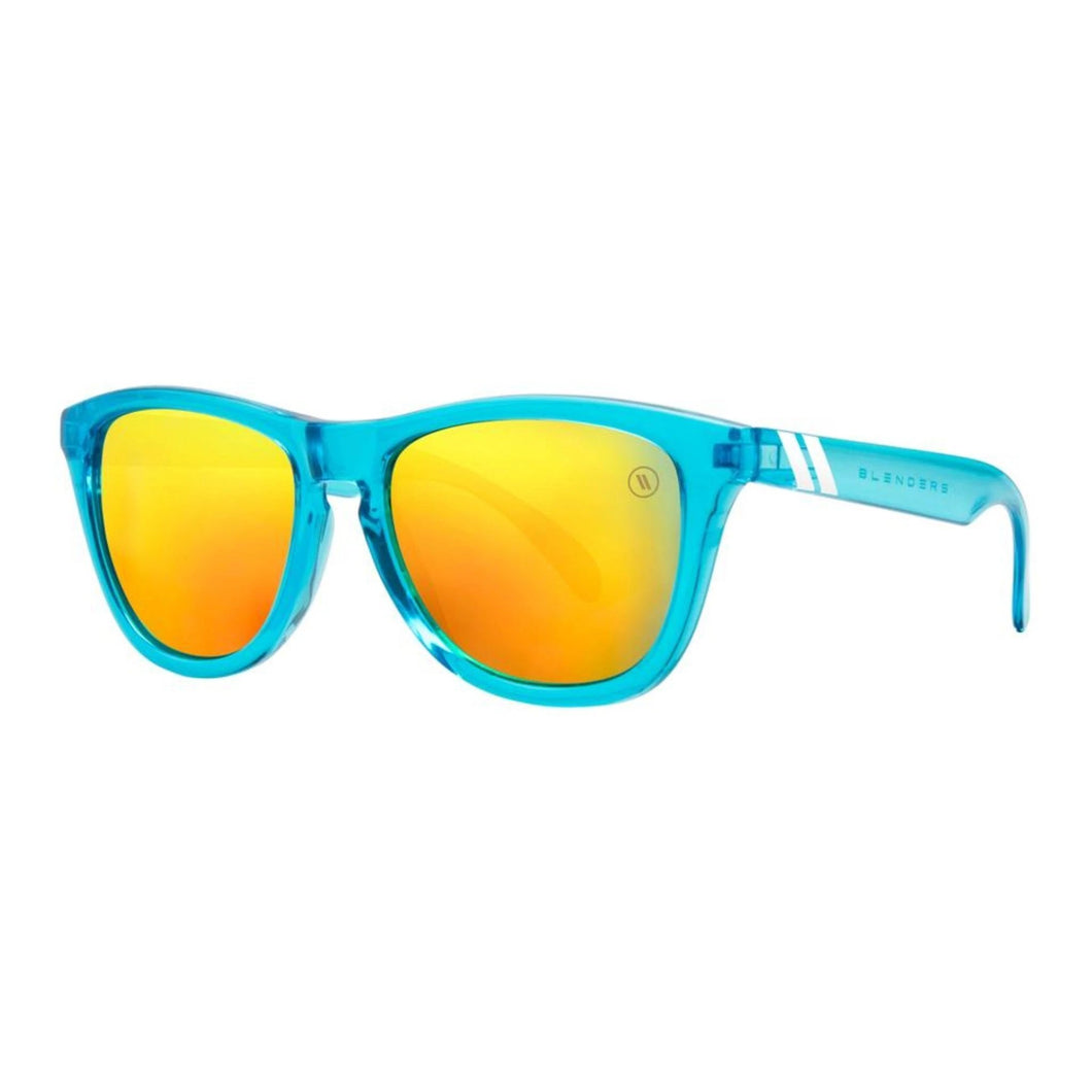 Blenders // Aqua Lounge-Sunglasses-Blenders-Citurs Blue Frame/Gold Mirror Lenses-Viso Sun Shop