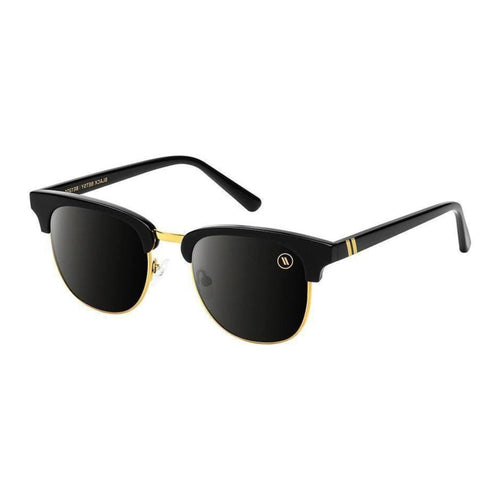 Blenders // Black Betsy-Sunglasses-Blenders-Black&Gold/Grey Polar Lenses-Viso Sun Shop