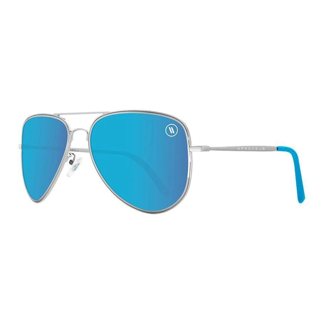 Blenders // Blue Angel-Sunglasses-Blenders-Shiny Silver/Blue Polar Lenses-Viso Sun Shop