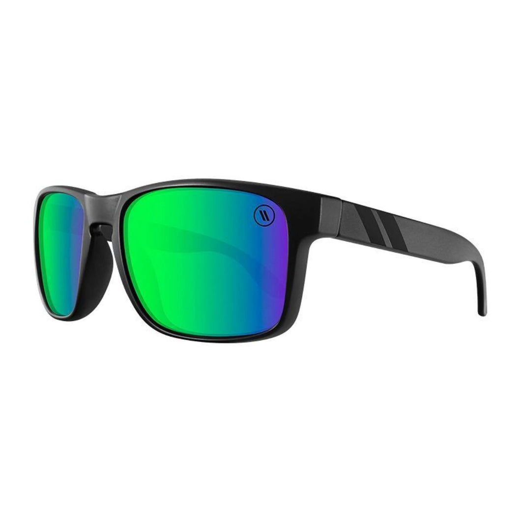Blenders // Celtic Light-Sunglasses-Blenders-Matte Black/Green Mirror Polar Lenses-Viso Sun Shop