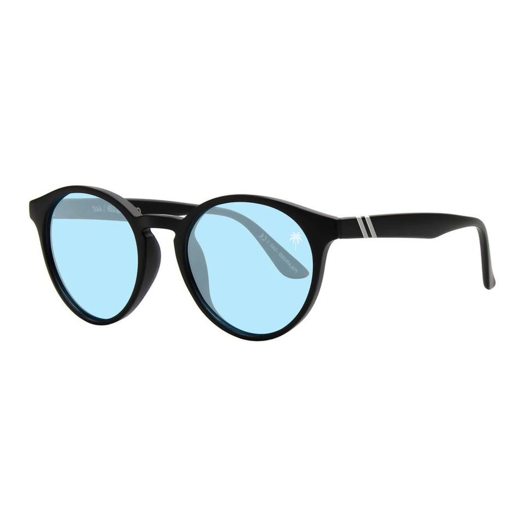 Blenders // Coast Club | Ace-Sunglasses-Blenders-Matte Blk/Blue-Viso Sun Shop