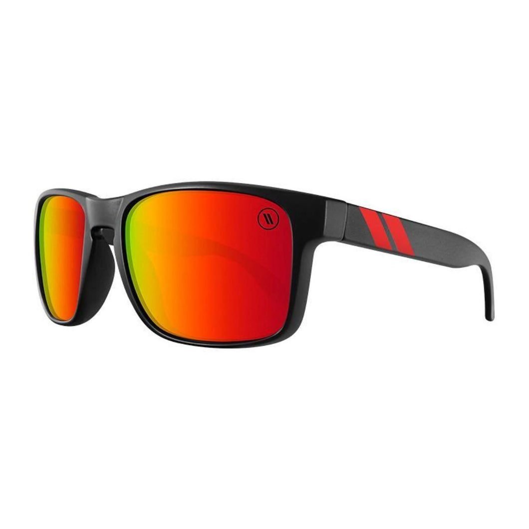 Blenders // Red Strike-Sunglasses-Blenders-Matte Black/Red Mirror Polar-Viso Sun Shop