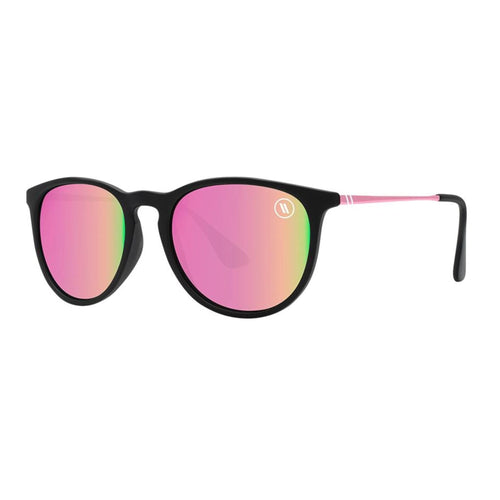 Blenders // Rose Theater-Sunglasses-Blenders-Soft Matt Black/Polar Rose Mirror Lenses-Viso Sun Shop