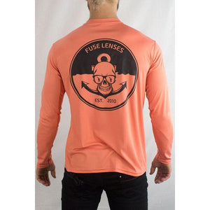Fuse // Anchors Away UV Longsleeve - Salmon-Apparel-Fuse Lenses-Viso Sun Shop