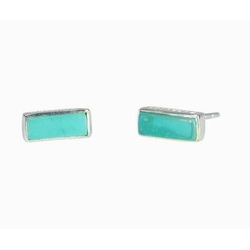 Pura Vida // Bar Earrings - Turquoise-Accessories-Puravida-Viso Sun Shop