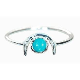 Pura Vida // Crescent ring - Turquoise-Accessories-Puravida-Viso Sun Shop