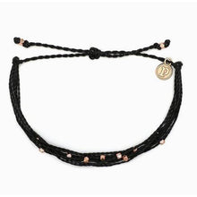 Load image into Gallery viewer, Pura Vida // Malibu Bracelet-Accessories-Puravida-Black/Rose Gold-Viso Sun Shop