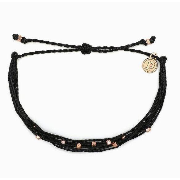 Pura Vida // Malibu Bracelet-Accessories-Puravida-Black/Rose Gold-Viso Sun Shop