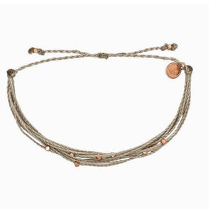 Pura Vida // Malibu Bracelet-Accessories-Puravida-Grey/Rose Gold-Viso Sun Shop