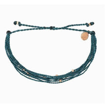 Load image into Gallery viewer, Pura Vida // Malibu Bracelet-Accessories-Puravida-Medierranean Green/Rose Gold-Viso Sun Shop