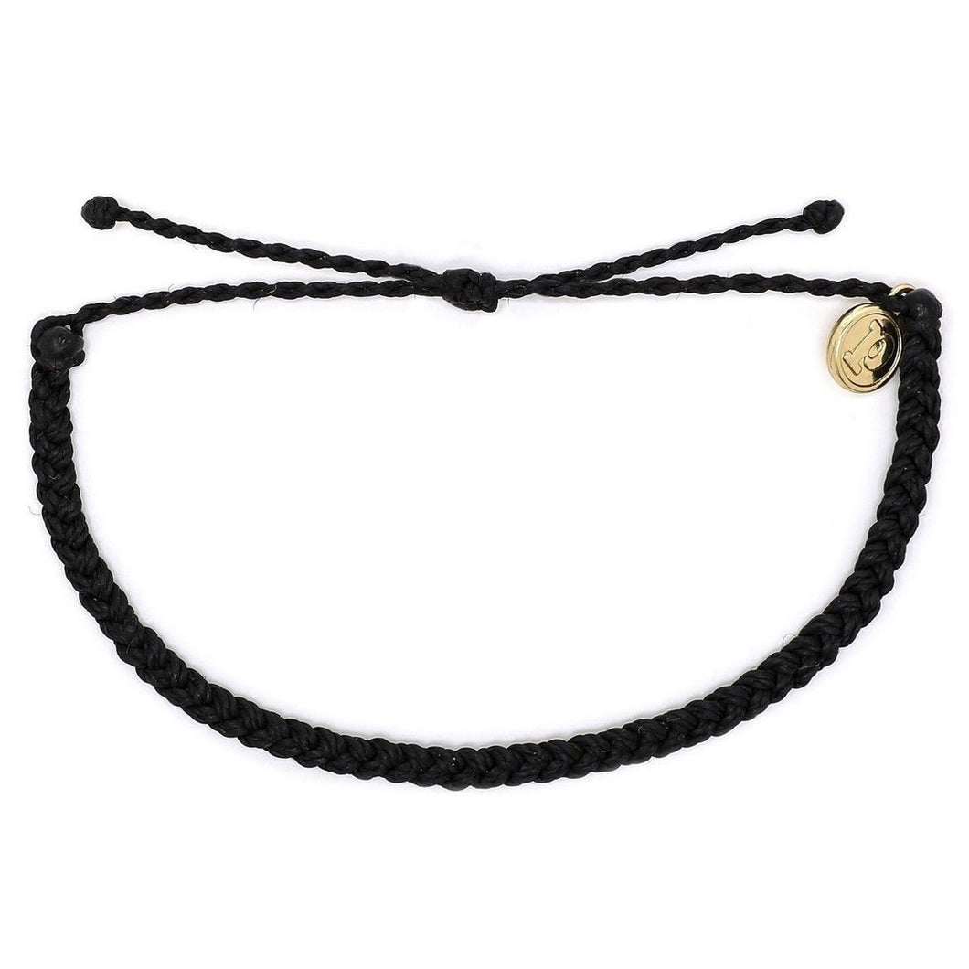 Pura Vida // Mini Braided Soild Bracelets-Accessories-Puravida-Black-Viso Sun Shop