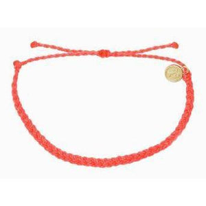 Pura Vida // Mini Braided Soild Bracelets-Accessories-Puravida-strawberry-Viso Sun Shop