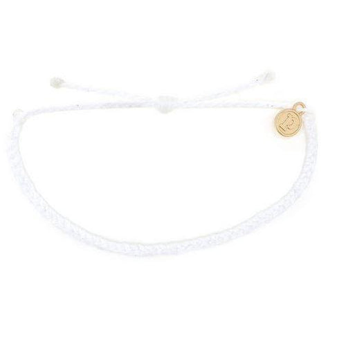 Pura Vida // Mini Braided Soild Bracelets-Accessories-Puravida-White-Viso Sun Shop