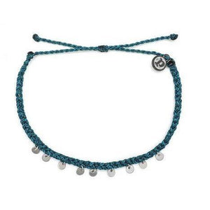 Pura Vida // Mini Coin Anklet-Accessories-Puravida-MEDITERRANEAN GREEN-Viso Sun Shop