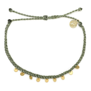 Pura Vida // Mini Coin Anklet-Accessories-Puravida-Sage-Viso Sun Shop