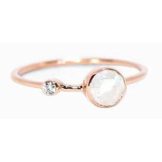 Pura Vida // Moonstone Double Stone Ring-Accessories-Puravida-Viso Sun Shop