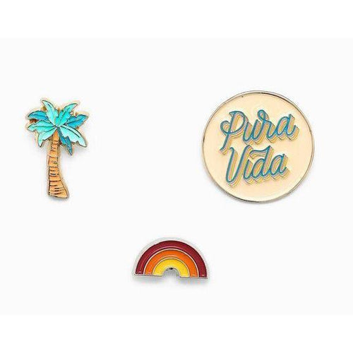 Pura Vida // Pura Vida Pin Set-Accessories-Puravida-Viso Sun Shop