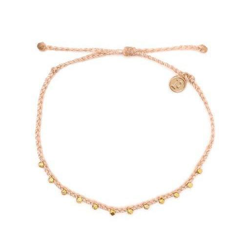 Pura Vida // Stiched Bead Anklet-Accessories-Puravida-Gold/Blush-Viso Sun Shop