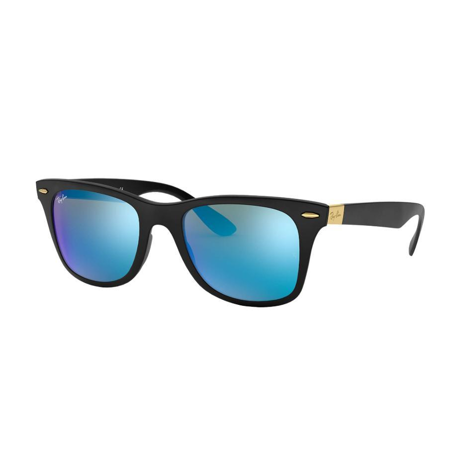 Ray-Ban // RB4195 // WAYFARER LITEFORCE-Sunglasses-Ray-Ban-Black/Blue Mirror-Viso Sun Shop