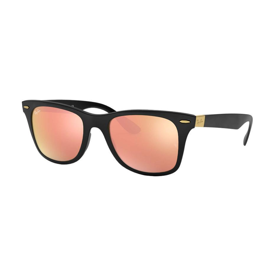 Ray-Ban // RB4195 // WAYFARER LITEFORCE-Sunglasses-Ray-Ban-Black/Copper Mirror-Viso Sun Shop